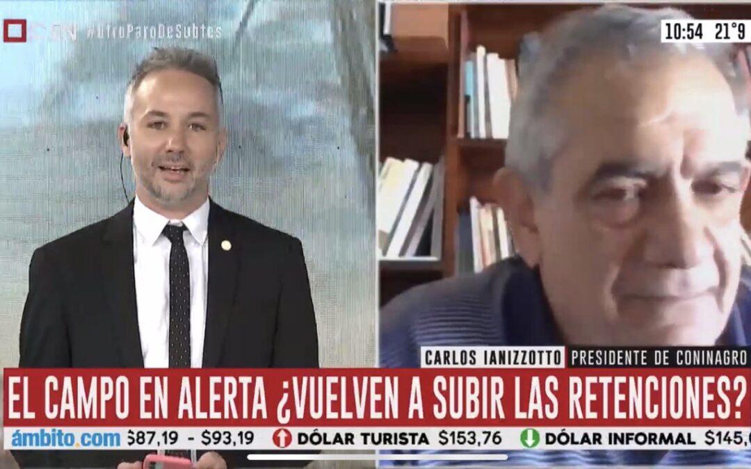"""[PRENSA] Carlos Iannizzotto: """"La situación es muy compleja y las retenciones son para que el Estado recaude, no para solucionar problemas sociales o productivos""""VIDEO: Nota en C5N"""