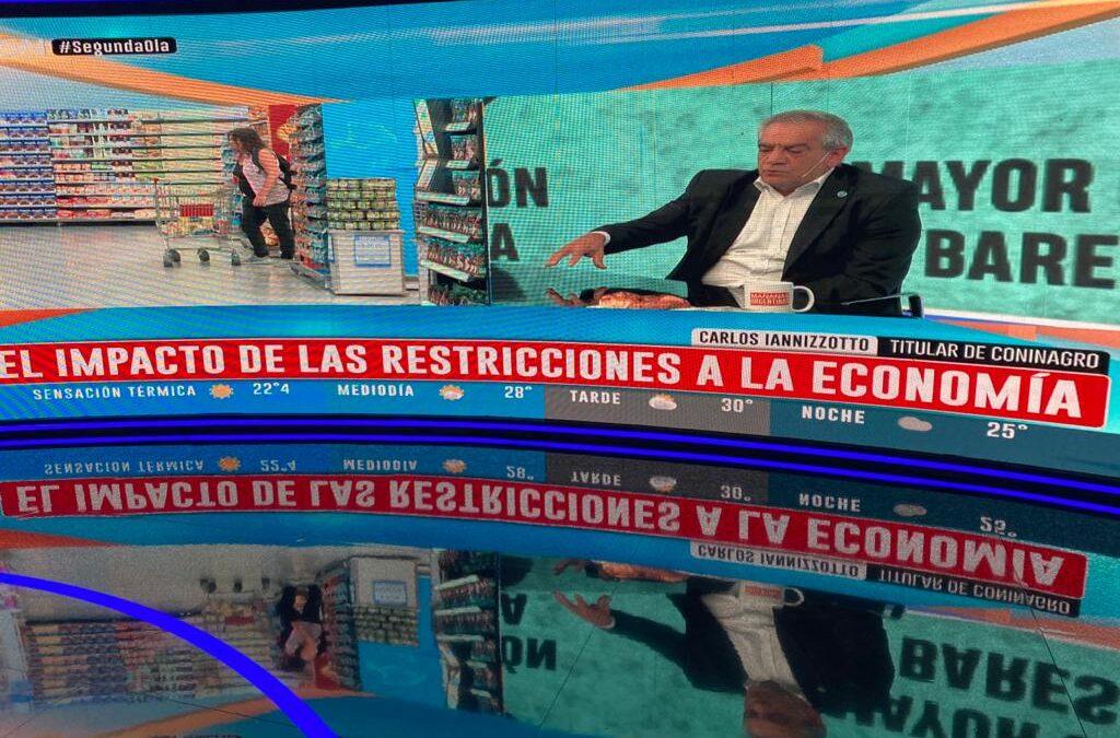 [PRENSA] Carlos Iannizzotto analizó el rol del sector productivo en la situación socioeconómica del país